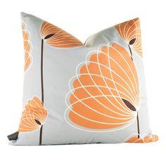 Aequorea Lotus Pillow in Silver and Sunshine