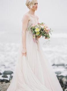 soft blush gown