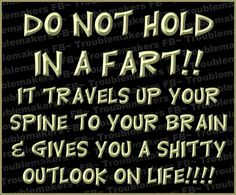 Fart and be happy