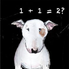 English Bull Terrier Card The Thinking Man's by TheTerriersClub