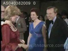 Prince Charles & Princess Diana at the Barbican opening celebration on April 4,1982 .
