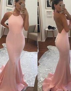 pink prom dress, long evening dress, backless prom dress, mermaid prom dress, cheap evening dress, BD26353 #fashion#promdress#eveningdress#promgowns#cocktaildress