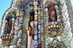 Colorful Shrine to the Virgin Mary in Valladolid, Mexico