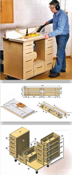 Router Table Plan - Router Tips, Jigs and Fixtures | WoodArchivist.com #WoodworkingTools