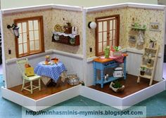 1:18 scale. One kit turned into two! Minis By Evelyne