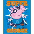 Peppa Pig Super George - Mini Poster - 40 x 50cm A poster for the children™s programme, Peppa Pig. Peppa appaears in this poster with her little brother George. (Barcode EAN=5028486211876) http://www.MightGet.com/january-2017-11/peppa-pig-super-george--mini-poster--40-x-50cm.asp