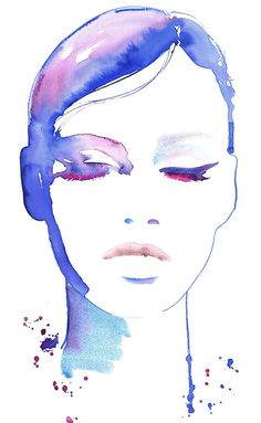 Fashion Illustration Fashion Print Watercolor by silverridgestudio