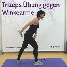 Trizeps Übung gegen Winkearme - Video - fitkurs.de