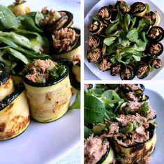 Rezept, Low Carb, Zucchini Thunfisch Rollen