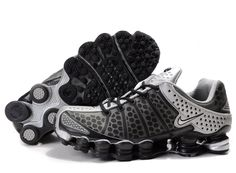 Mens Nike Shox TL3 Running Shoes Black White.   I want!