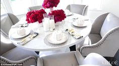 For the kids? 'So I set the table last night. This is an overage table. But how gorgeous i...