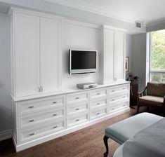 Master Bedroom Storage – contemporary – bedroom – toronto – Alan Heron Homes Lim… Built In Bedroom Cabinets, Bedroom Wall Units, Bedroom Built In Wardrobe, Bedroom Built Ins, Built In Dresser, Bedroom Closet Design, Built In Furniture, Bedroom Storage, Home Bedroom