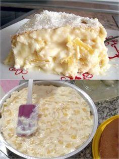 RECHEIO DE CREME DE ABACAXI PARA BOLO – Caderno de Receitas Sweet Recipes, Cake Recipes, Dessert Recipes, Portuguese Recipes, Love Food, Cupcake Cakes, Sweet Tooth, Sandwiches, Food And Drink