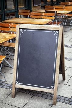 Sandwich boards are a great way to inexpensively catch customers' attention.