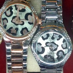 Guess Animal Print Watches Want one. Animal Print Fashion, Fashion Prints, Animal Prints, My Animal, Cheetah Print, Girls Best Friend, Print Patterns, Watches For Men, Jewelery