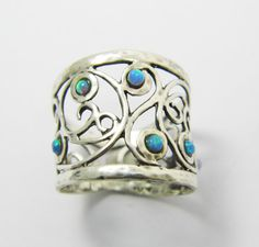 Open-Work sterling silver opal ring. birthday door STarLighTstudiO3