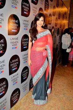 #Esha Gupta in Manish Malhotra Saree.