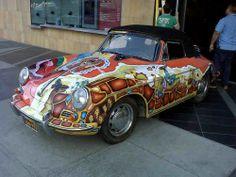Janis Joplin's Porsche 356 arrived at the Grammy Museum