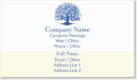 life insurance tree Spot Gloss Business Cards