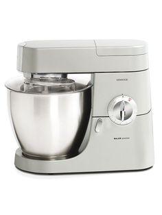 Kenwood KMM770 - En silverfärgad kraftfull köksmaskin med 6,7 liters rostfri skål.