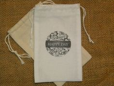 Hey, I found this really awesome Etsy listing at https://www.etsy.com/listing/152726304/24-wedding-favor-bags-muslin-3-x-5-happy