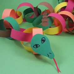 Year of the snake - paper chain snake