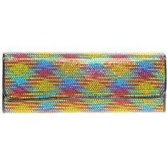 Aldo Holvey Multi Colored Sequin Clutch Bag ($62) ❤ liked on Polyvore
