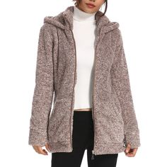 a035fc404dd Laddytopia Women s Warm Leisure Zipper Hoodie Winter Coats