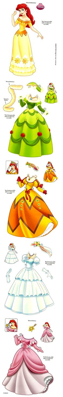 Paper Doll - Disney Ariel (La Sirenita)