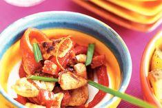 Kipblokjes met chorizo en paprika