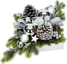 Christmas Tree Crafts, Christmas Porch, Christmas Mood, Christmas Wreaths, Christmas Flower Arrangements, Christmas Centerpieces, Christmas Decorations, Beautiful Christmas, Flower Decorations