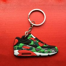 Leuke Mini Siliconen Airer 90 Sleutelhanger Zak Charm Vrouw Sleutelhanger Gift Sneaker Sleutelhouder Hanger Accessoires Jordan Schoenen sleutelhanger(China (Mainland))