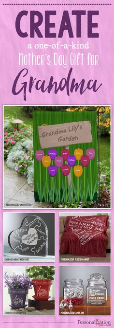 LOVE these one-of-a-kind Mothers Day Gift ideas for Grandma! They are cute and affordable Personalized Mothers Day Gifts that are so special! Such great, unique Gifts for Grandmas! - Diy Crafts for The Home Craft Gifts, Diy Gifts, Unique Gifts, Spring Crafts, Holiday Crafts, Holiday Ideas, Personalized Mother's Day Gifts, Mothers Day Crafts For Kids, Mom Day