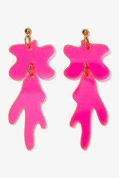 I Still Love You NYC Drip Splat Earrings - Accessories   Earrings