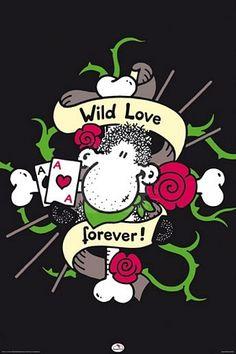 Sheepworld Wild Love - plakat o wymiarach 61x91,5 cm  Gdzie kupić? http://www.eplakaty.pl/produkt/Sheepworld-Wild-Love---plakat