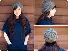 Chevron patterned beanie: A knitting how-to.
