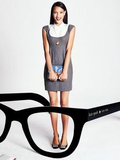#modabibliotecaria #librarianchic by Kate Spade, NY Lot 65: Library Awesomeness pendant and glasses