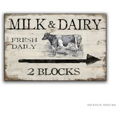Milk and Dairy Wooden Sign Handmade Farm Signs Country Signs Farmhouse... ($36) ❤ liked on Polyvore featuring home, home decor, wall art, home & living, home décor, silver, wall décor, wall hangings, handcrafted wooden signs and wood home decor