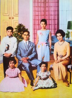 His Majesty King Bhumibol Her Majesty Queen Sirikit Thai Royal Family .