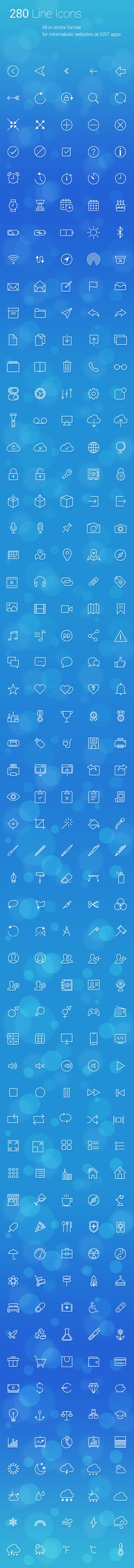 280 uniquely designed vector line icons  https://gumroad.com/l/orbG