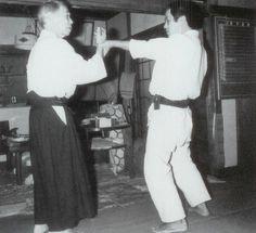 "Yukiyoshi Sagawa demonstrating Aiki-nage on Yoshio Ohara - from the blog post ""What is Aiki? Introduction to a method of analyzing Aiki. (Part 2)"": http://www.aikidosangenkai.org/blog/analyzing-aiki-part-2/"