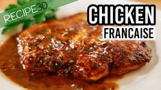 The Best Chicken Francaise Recipe - Easy Meals with Video Recipes by Chef Joel Mielle - The Best Chicken Francaise Recipe, Most Popular Recipes, Favorite Recipes, Chicken Francese Recipe, Italian Chicken Dishes, How To Cook Chicken, Farm Chicken, Chicken Eggs, Baked Chicken