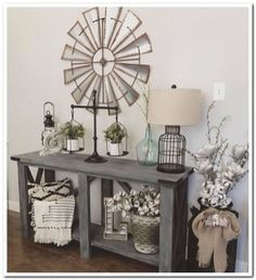 We have 181 entry table ideas that will enhance your house. The pictures of the entry table ideas are diverse, from luxurious classic to woodwork, vintage entry table. Home Living Room, Living Room Decor, Sofa Table Decor, Sofa Tables, Console Table, Entry Tables, Rustic Entry Table, Farmhouse Entryway Table, Farm House Entry Table