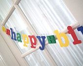 NEW.  LEGO-Inspired Happy Birthday Banner with 3D Blocks