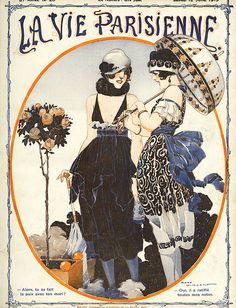 La Vie Parisienne 1919 1910s France Canvas Print / Canvas Art by The Advertising…