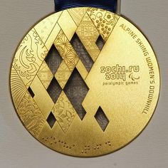 Photo Gallery: Sochi 2014 Winter Olympics and Paralympics medals unveiled Winter Olympic Games, Winter Games, Winter Olympics, Olympic Medals, Alpine Skiing, Important Things In Life, Game Logo, Photo Galleries, Acrylic Trophy