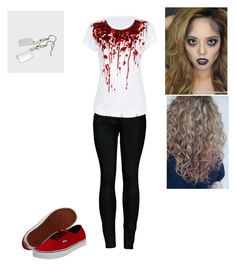 """""""Easy Zombie Costume"""" by ridiculousn3ss on Polyvore featuring 2LUV and Vans"""