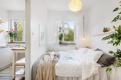 White themed small apartment