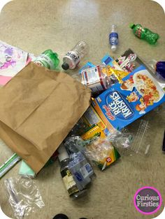 Inferring with trash--bring your trash to school.