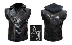 AJ Styles WWE Crocodile Faux Leather Vest (XS)